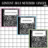 Editable Content Area Notebook Covers (Composition Style)