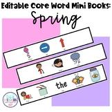 Editable Core Word Mini Books: Spring