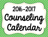 Editable Counselor Calendar