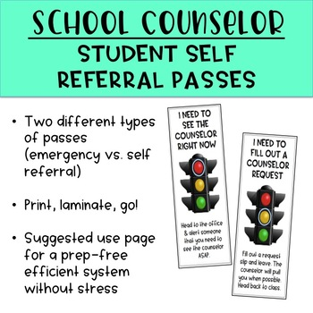 School Counselor Self Referral Student Passes