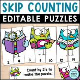 Editable Counting Puzzles Back to School Edition