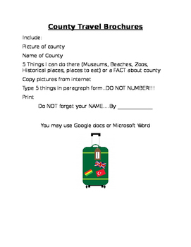 Editable County Brochure Project