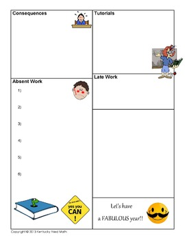Editable Course Syllabus Template for Interactive Notebook Back-to-School Form