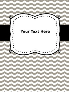 Editable Cover Pages