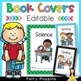 Editable Book Covers (Polka Dot Borders)