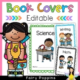 Editable Cover Pages for Subject Workbooks (Scalloped Borders)