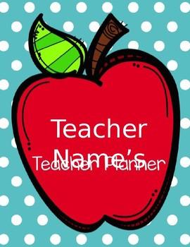 Editable Cover for 2017-2018 Teacher Planner