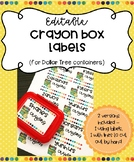Editable Crayon Box Labels - 2 Versions (1 using labels, 1