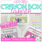 Editable Crayon Box Labels Freebie