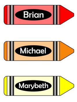 Editable Crayon Labels FREEBIE