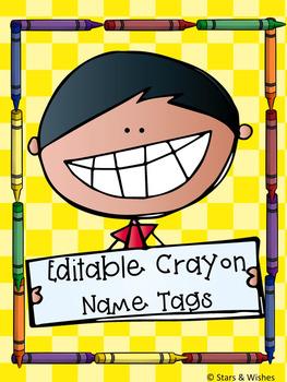 Editable Crayon Name Labels