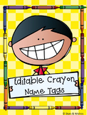 Editable Crayon Name Labels