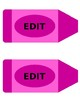 Editable Crayon Name Tags and Labels