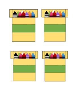 Editable Crayon Themed Background Boxes