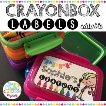 Editable Crayon box Labels