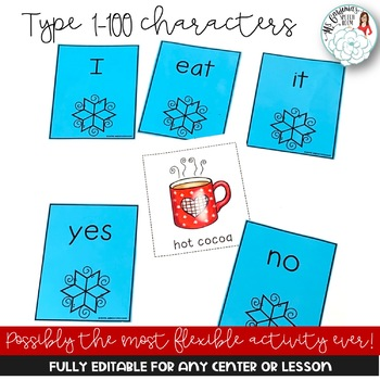 Editable Create Your Own Feeding Activities: Winter Theme
