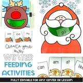 Editable Create Your Own Feeding Activities: Winter Theme