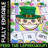 Editable Create Your Own Feeding Activity: St. Patrick's D
