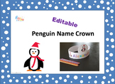 Editable Crown Name with Penguins