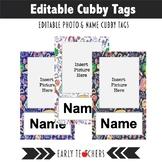 Editable Cubby Name Tags