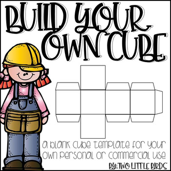 Editable Cube Template By Two Little Birds  Teachers Pay Teachers