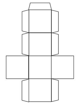 editable cube template by two little birds teachers pay teachers