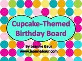 {Editable} Cupcake Themed Birthday Display
