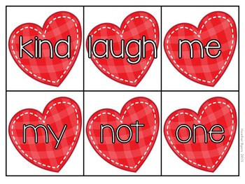 Editable Cupid's Heart- Sight word game