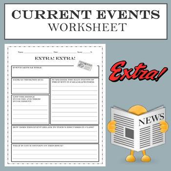 Current Events Worksheet (EDITABLE)