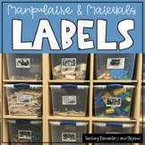 Editable Curriculum Corner Manipulative & Classroom Labels