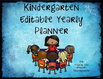 2016/2017 Editable Curriculum Guide for Kindergarten
