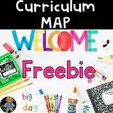 Editable Curriculum Map Freebie