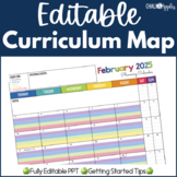 Editable Curriculum Map Planning Calendar