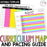 Editable Curriculum Map and Pacing Guide Template