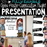 Editable Curriculum Night Open House Presentation