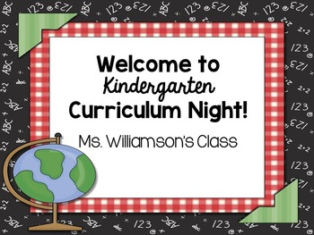 Editable Curriculum Night Presentation