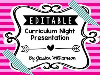 Editable Curriculum Night Presentation