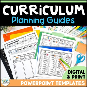 Editable Curriculum Planning Guides – Click, Type, Print T