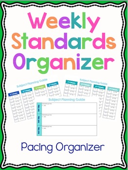 Weekly Standards Organizer