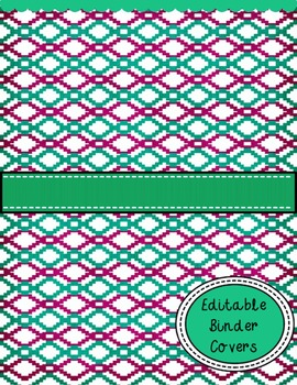 Binder Covers with Spine Inserts Purple, Orange and Teal