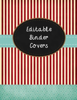 Binder Covers with Spine Labels ~ Vintage Theme