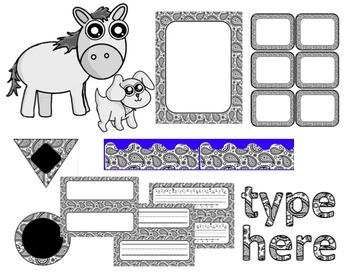 Editable Custom Theme Decor Set  Bandana