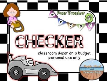 Editable Custom Theme Decor Set  Checkers