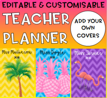 Editable & Customisable Daily Teacher Planner