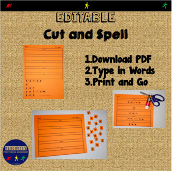 Editable Cut and Spell Worksheets