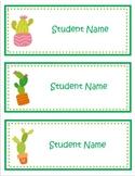 Editable Cute Cactus Labels