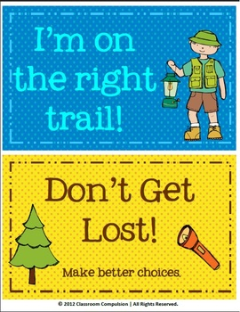*Editable* Cute Camping Clip Chart for Behavior Management