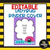 Editable Ladybug Binder Cover