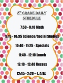 Editable, Cute Daily Schedule Chart