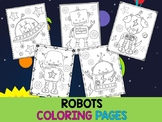 Editable Cute Robots and Birthday Coloring Pages - The Crayon Crowd